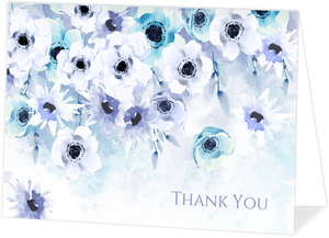 Watercolor Anemones Personalized Thank You Card
