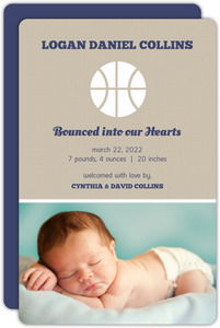 Silhouette Basketball Birth Annoucement