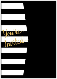 Modern Chic Wedding Pocketfold Invitation