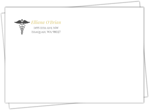 Formal Grey & Gold Medical School Graduation Custom Envelope