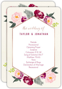 Boho Floral Wedding Program