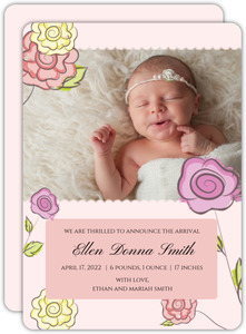 Roses Birth Announcement