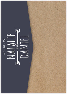 Something Blue Wedding Pocketfold Invitation