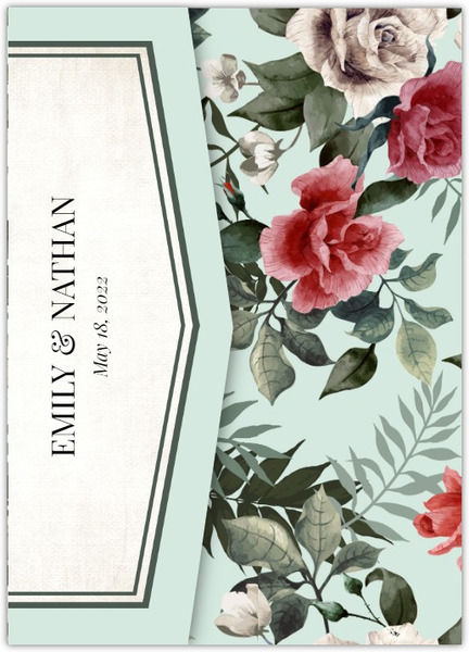 vintage rose pocketfold wedding invitation vintage wedding invitations
