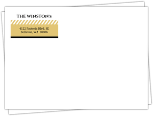 Black And Gold Stripes Envelope