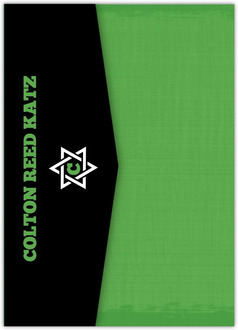 Green and Black Soccer Bar Mitzvah Pocketfold Invitation