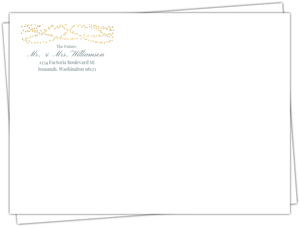 Gold Dangling Lights Custom Envelope