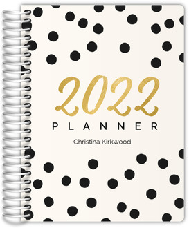 Faux Gold Year Confetti Daily Planner