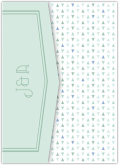 Sea Glass Pattern Pocketfold Wedding Invitation