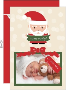 Santa Came Early Christmas Birth Announcement