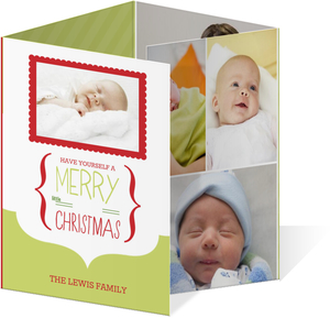 Merry Little Chirstmas Birth Announcement