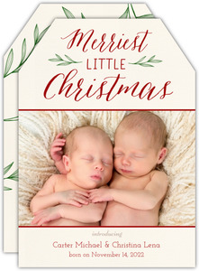 Merry Little Christmas Birth Announcement