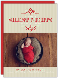 Red Frame Holiday Birth Announcement