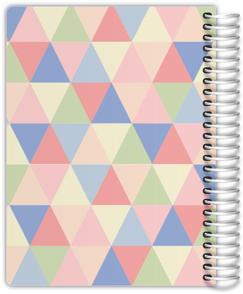 Pastel Geometric Triangles Custom Family Planner