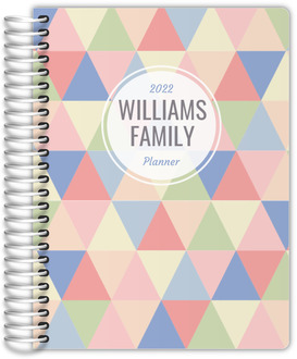 Pastel Geometric Triangles Custom Family Planner