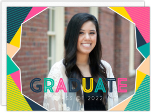 Modern Colorful Frame Graduation Invitation