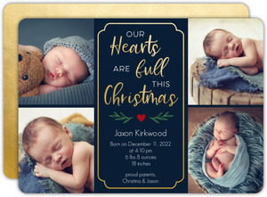 Full Hearts Holiday Baby Announcement