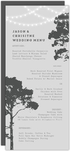 Tree Lights Wedding Menu
