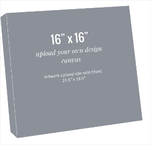 Upload Your Own Design 16x16 Canvas