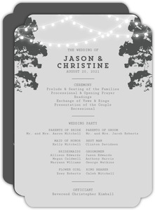 Tree Lights Wedding Program