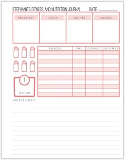 Custom Fitness Grid Pages 8.5x11