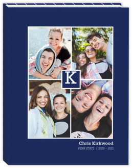 Monogram Photo Collage Student Sewn Planner 8.5x11