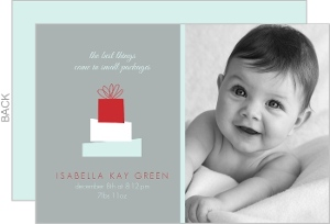 Little Gifts Photo Christmas Birth Announcement
