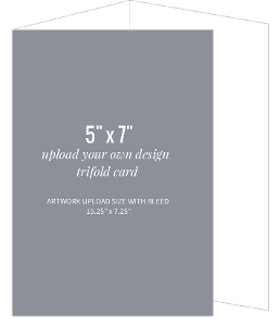 Upload Your Own Design 5x7 Trifold Card