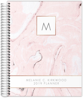 Blush Marble and Faux Rose Weekly Planner