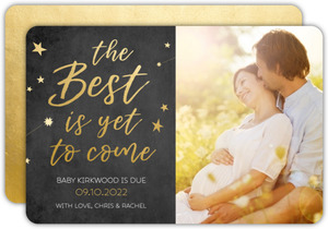 Faux Gold Stars Quote Pregnancy Announcement