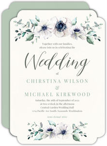 Delicate Anemone Floral Wedding Invitation