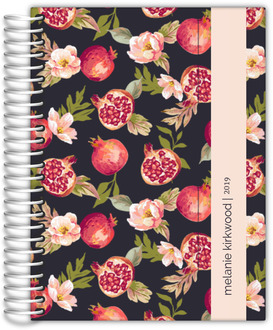 Pomegranate and Florals Custom Planner