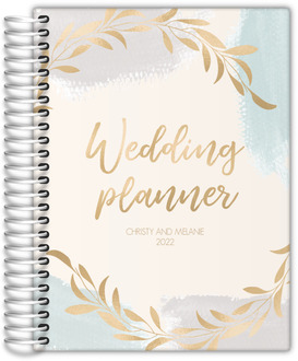 Faux Gold Laurel LGBT Wedding Planner