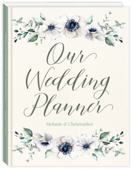 Delicate Anemone Floral Sewn Wedding Planner
