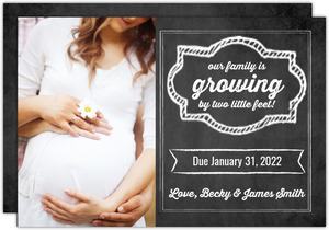 Cute Chalkboard Frame Pregnancy Annoucement