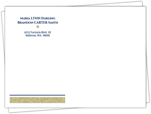 Navy And Gold Glitter Formal Envelope