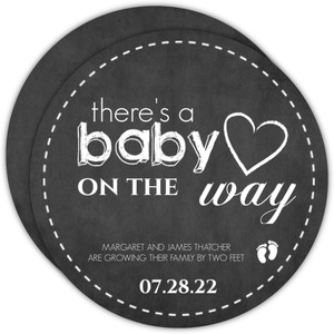 Chalkboard Baby on the Way Pregnancy Announcement