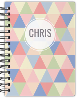 Pastel Geometric Triangles Notebook