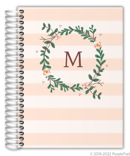 Floral Monogram Custom Journal