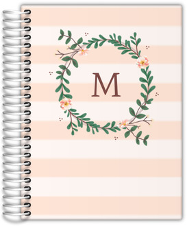 Floral Monogram Journal