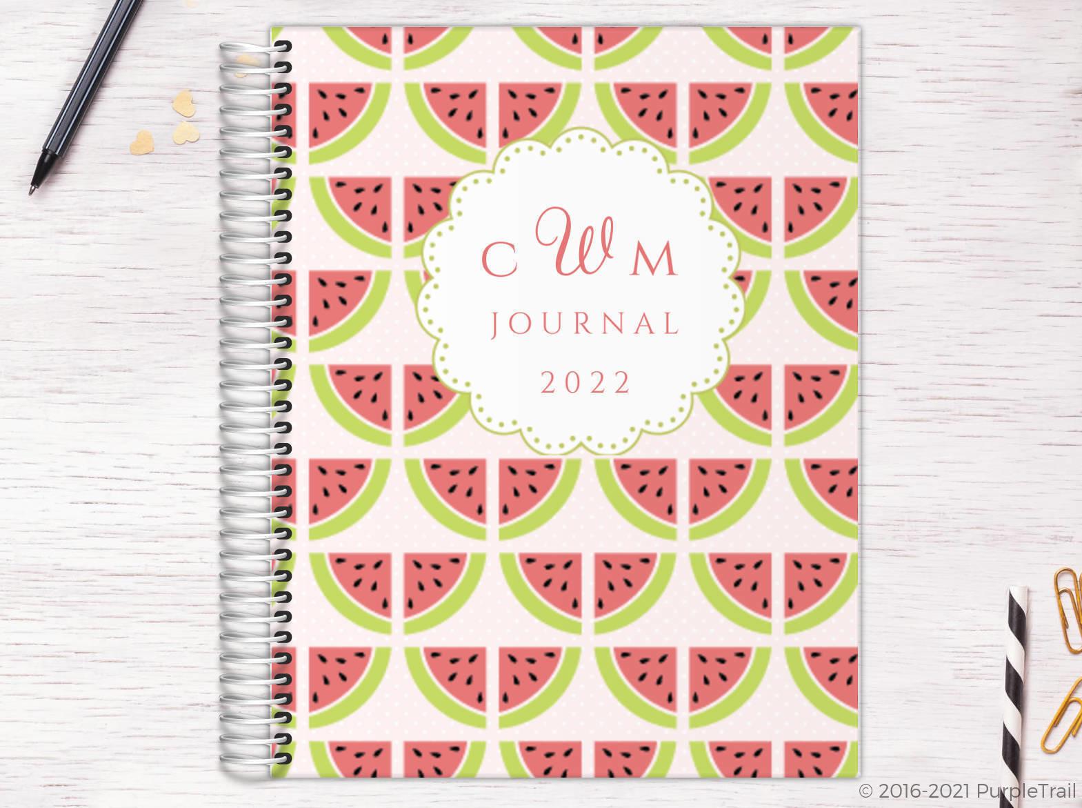 Sweet Watermelon Monogram Custom Journal