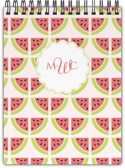 Sweet Watermelon Monogram Notebook