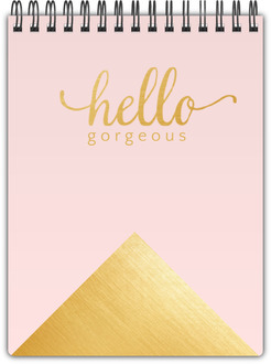 Faux Foil Gold Hello Gorgeous Notebook