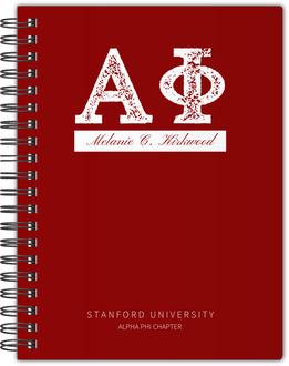 Collegiate Greek Letters Notebook