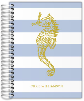 Nautical Seahorse Custom Journal