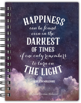 Turn on the Light Quote Notebook