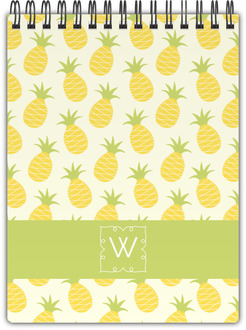 Pinneapple Monogram Notebook