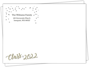 Confetti and Glitter Script Custom Envelope