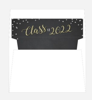 Confetti and Glitter Script Envelope Liner