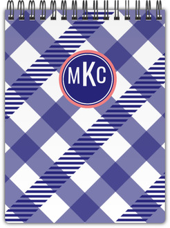 Gingham Stripe Notebook